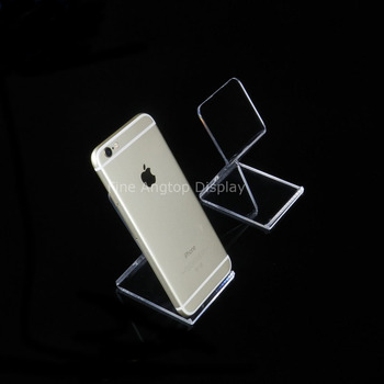 5pcs/lot Clear Acrylic Counter Holder Jewelry Display Stand For Cell Phone 40pcs lot 15cm acrylic security ipad stand tablet display holder round clear base for apple samsung shop