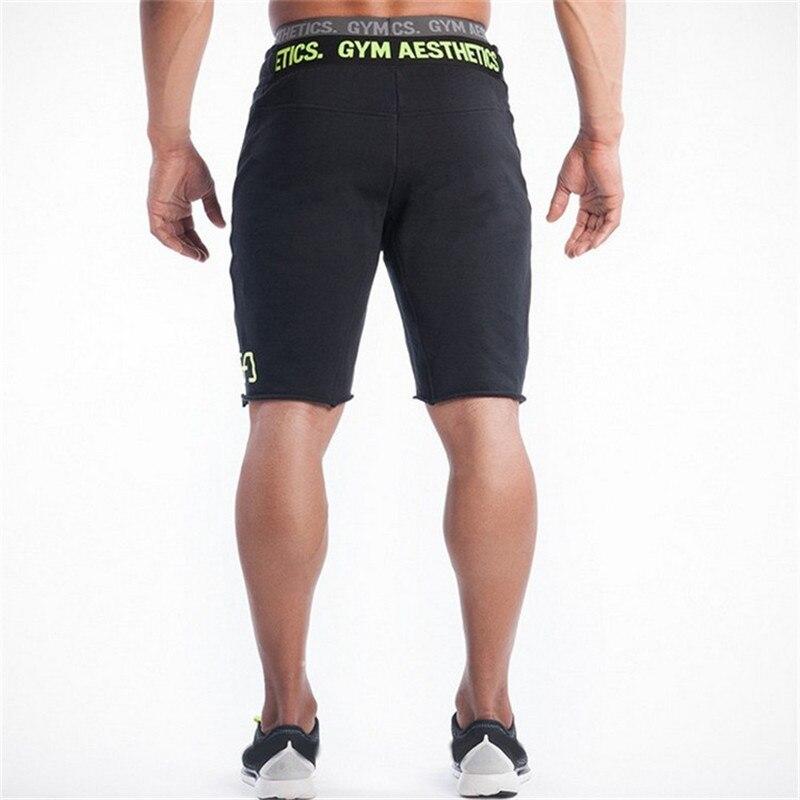 2018 New Fashion Mens Cargo Shorts Trousers Cotton Bodybuilding Short Men Jogger High Quality Gyms Men Shorts Big Size M~XXL