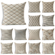 WZH Gradient texture Cushion Cover 45x45cm Linen Decorative Pillow Cover Sofa Bed Pillow Case(China)