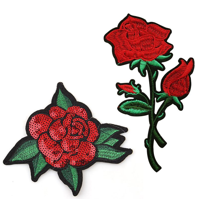 Aliexpress buy hot sale pc rose flower patch iron