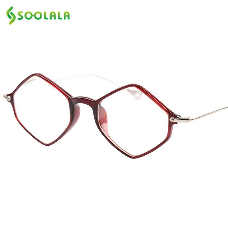 SOOLALA جديد ماركة نظارات القراءة ضوء النظارات إطار العلامة التجارية مصمم النظارات الطبية +0.5 0.75 1.25 1.5 2.5 إلى 4.0