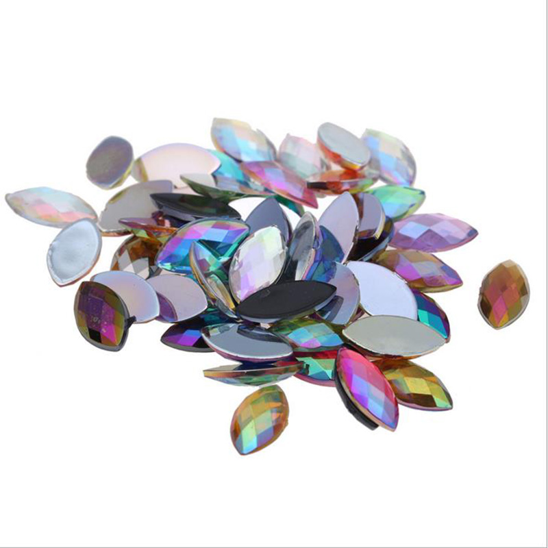Detail Feedback Questions about Coating Crystal AB Rhinestones Flatback  Acrylic Crystals Non Hotfix Horse Eye Strass Non Sewing Stones 7 15MM  5 10MM all ... f04a41ca48f0