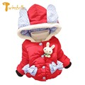 TWINSBELLA Baby girls Winter jacket 2017 kids Thickening plus velvet padded jacket Korean coat Children Hooded jacket for girls