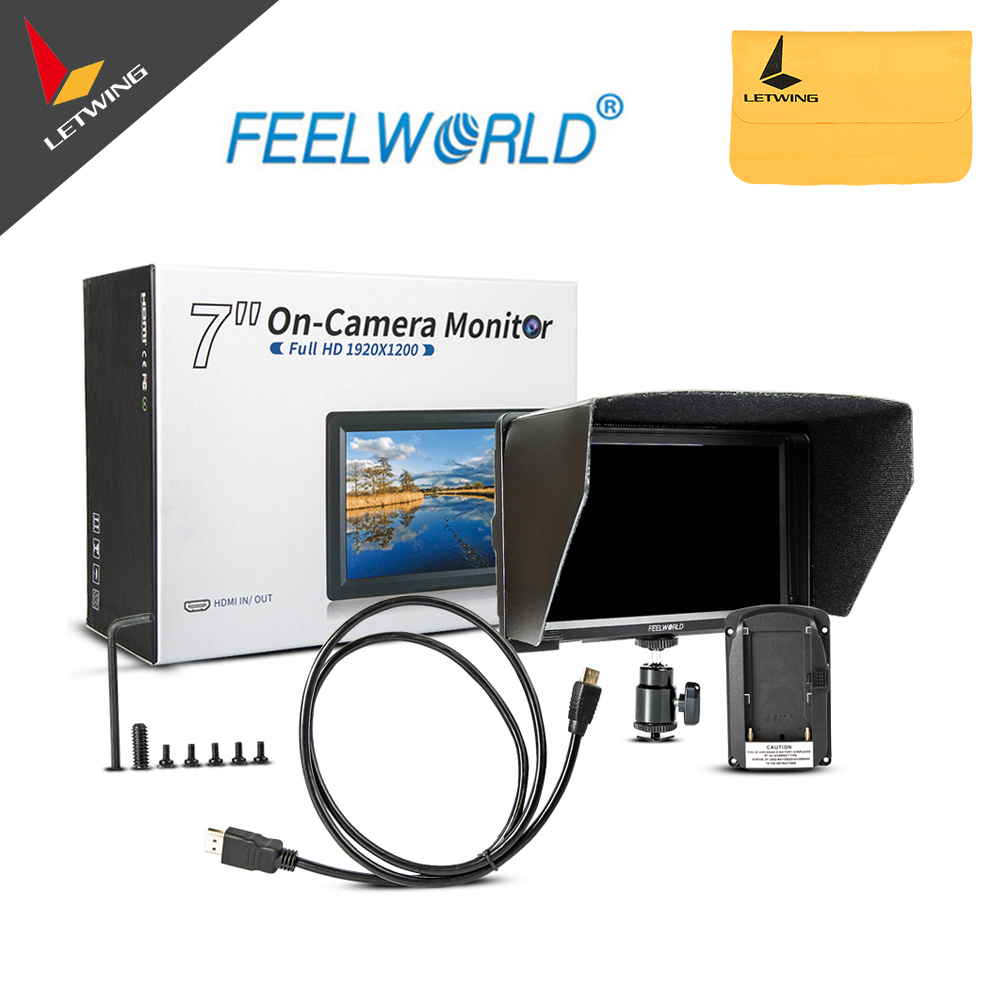 FEELWORLD F7 7 Utra Slim IPS Full HD 1920x1200 4K HDMI On-camera Video Field Monitor for Canon Nikon Sony DSLR Camera Video