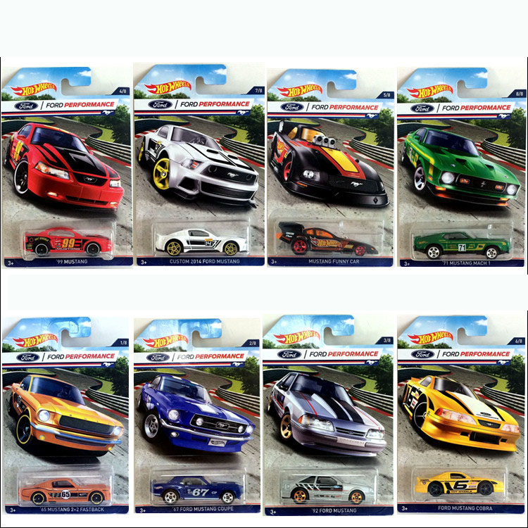 Friendly Car Ford Mustang Series 1:64 Alloy Small Car Baby Toy 8pcs/set Classic Car Special Type For Collection Limit Edition Durable Service