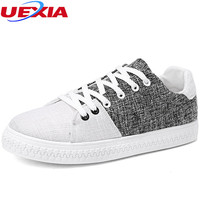 UEXIA Summer Hot Brand Men Shoes Lightweight Hemp Sneakers Breathable Slip On Casual Shoes Fashion Footwear