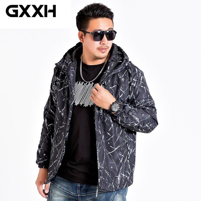 Erkek Kıyafeti'ten Ceketler'de GXXH 2019 marka rahat kış yeni erkek pamuk yastıklı ceketler erkek sıcak tutan kaban erkek kalın sıcak kapüşonlu ceket dış giyim artı boyutu 7XL'da  Grup 1