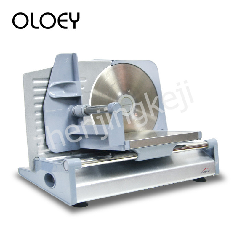 Semiautomatic Electric Meat Slicer Lightweight Fast Easy To Clean Adjustable Thickness One-button Switch Stainless Steel Blade