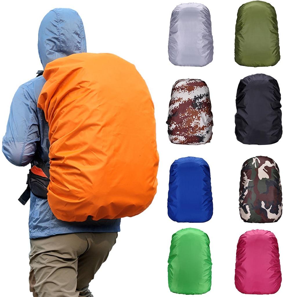 Bolso Hombre  Mochilas   Escolares Para Adolescentes Waterproof Backpack Cover Bag Camping Hiking Outdoor Rucksack Rain Dust Si5