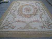Free shipping  9'x12'  French Aubusson woolen rug  French Aubusson Carpet for Home Decoration
