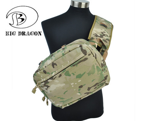 ФОТО Airsoft Shoulder Bag Multifunction Waterproof 1000D Nylon Medical Single Shoulder Hunting Durable Bag With Wide Removable Strap