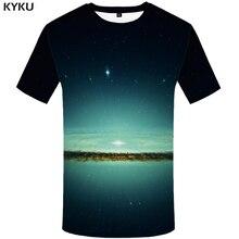 KYKU Galaxy T-shirt Men Anime T Shirt Punk Rock Clothes Graphic Tee Space Tshirts Printed Tshirt Gothic Mens Clothing Cool Tops