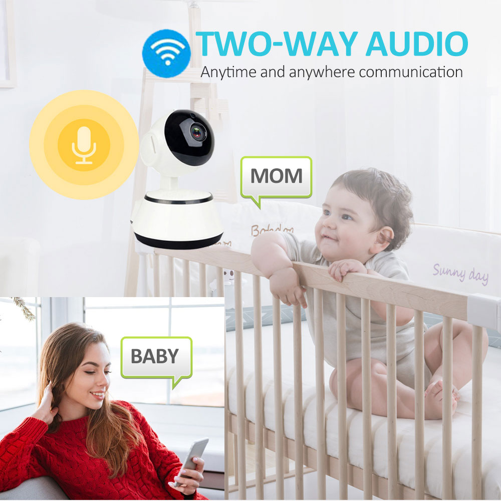 1080P HD Wireless Baby Monitor Camera With Auto Tracking Night Vision Mini Cam 4
