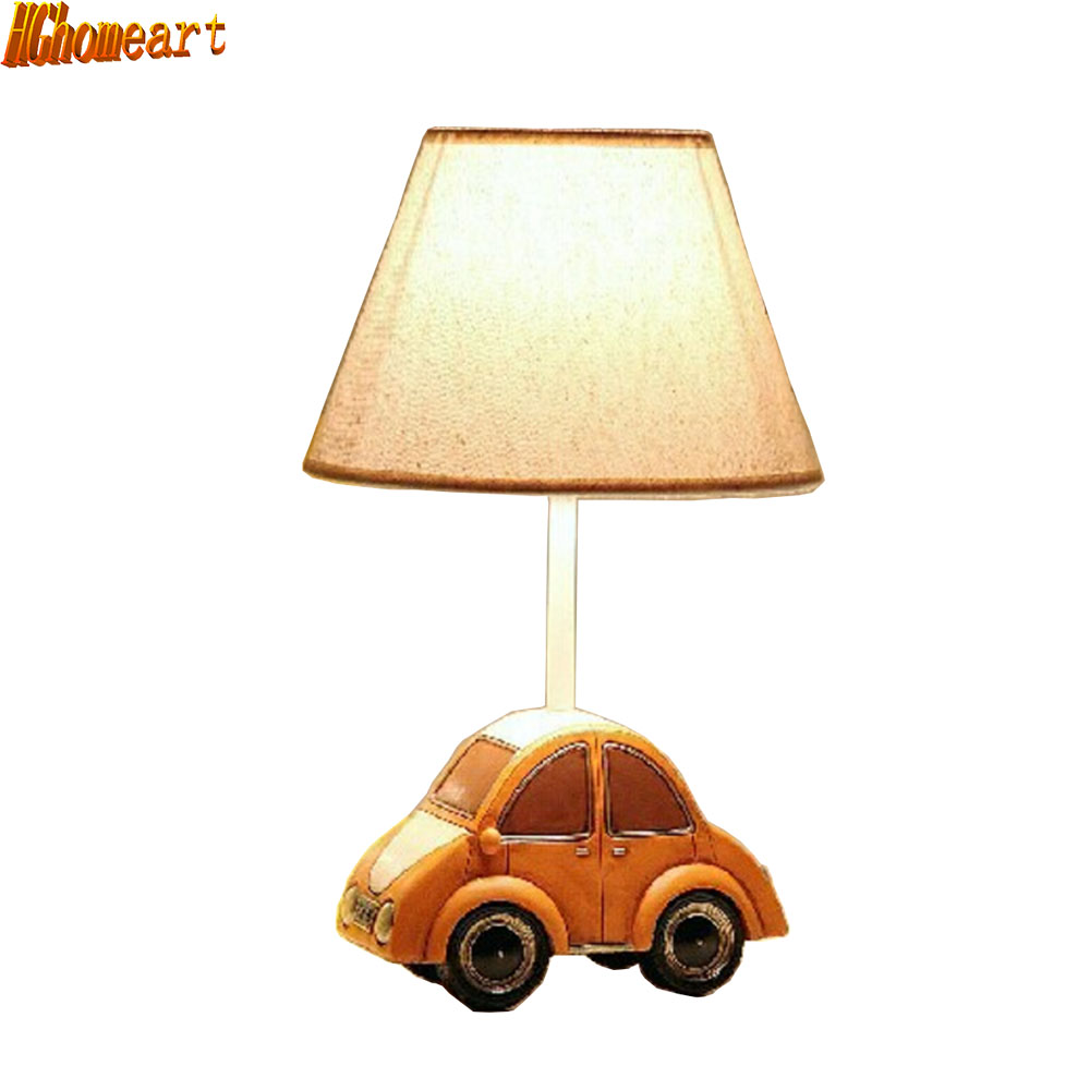 HGhomeart  Children's Led Desk Lamp Creative Cartoon Car Dimmable Warm Pastoral Cloth Cute Fashion Gift Table Lamps skull 3d cartoon usb mood led lamp creative atmosphere table lamp