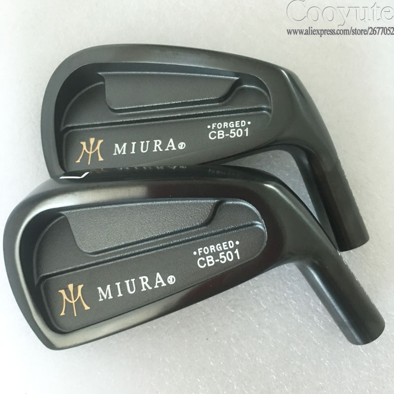 New Cooyute Golf heads MIURA CB-501FORGED Black Golf irons set 4-9P irons heads Golf Clubs heads No irons shaft Free shipping cooyute new mens golf clubs katana voltio iii golf irons set 7 9 p a s club irons with graphite golf shaft r flex free shipping