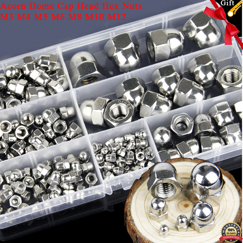 Metric Hex Domed Nut Acorn Cap Nuts M3 M4 M5 M6 M8 M10 M12 Useful Kit 10pcs