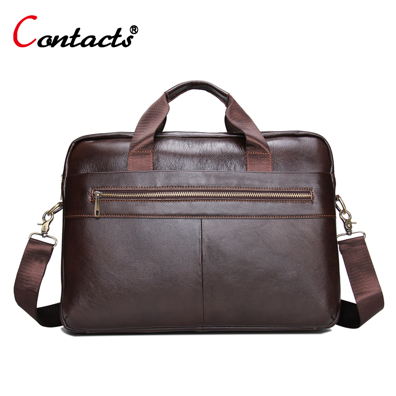CONTACT'S Business Laptop Briefcase With Handles Brands Messenger Bag Men Genuine Leather Bags Male Crossbody Bags Shoulder Bag frank buytendijk dealing with dilemmas where business analytics fall short