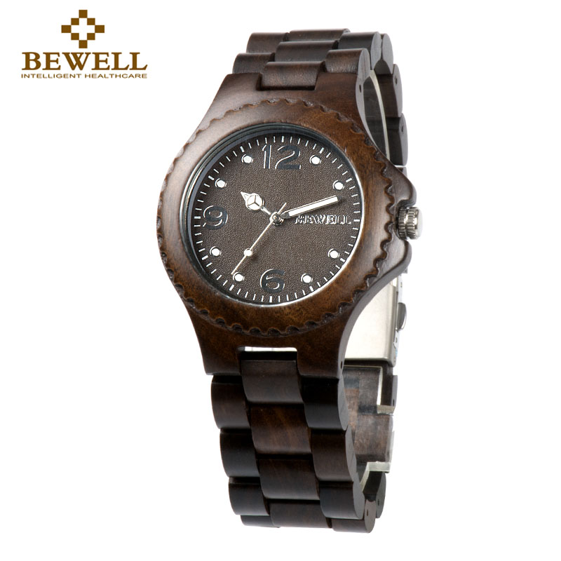 BEWELL Couple Watch Wood Gift Classic-Style Women's Design Brand Handmade Give 038A