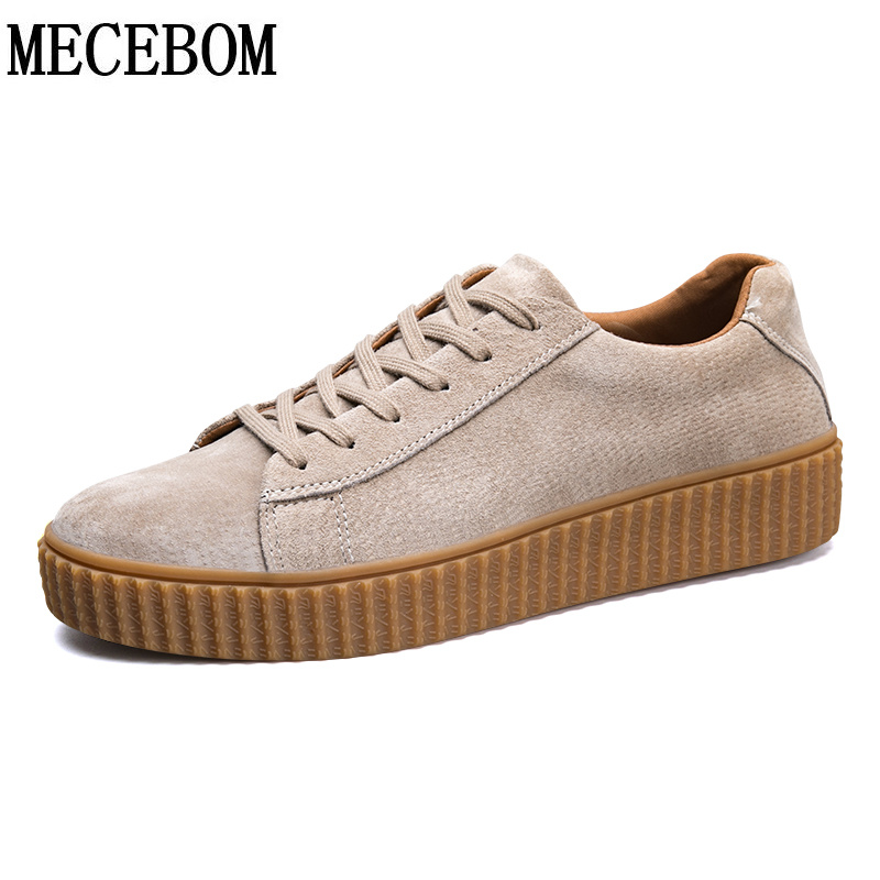 Men's casual shoes 2017 new arrival pig leather shoes fashion lace-up flat comfortable shoes chaussure homme size 39-44 s305m mycolen new fashion high top casual shoes for men leather lace up red white mixed color mens casual shoes chaussure homme cuir