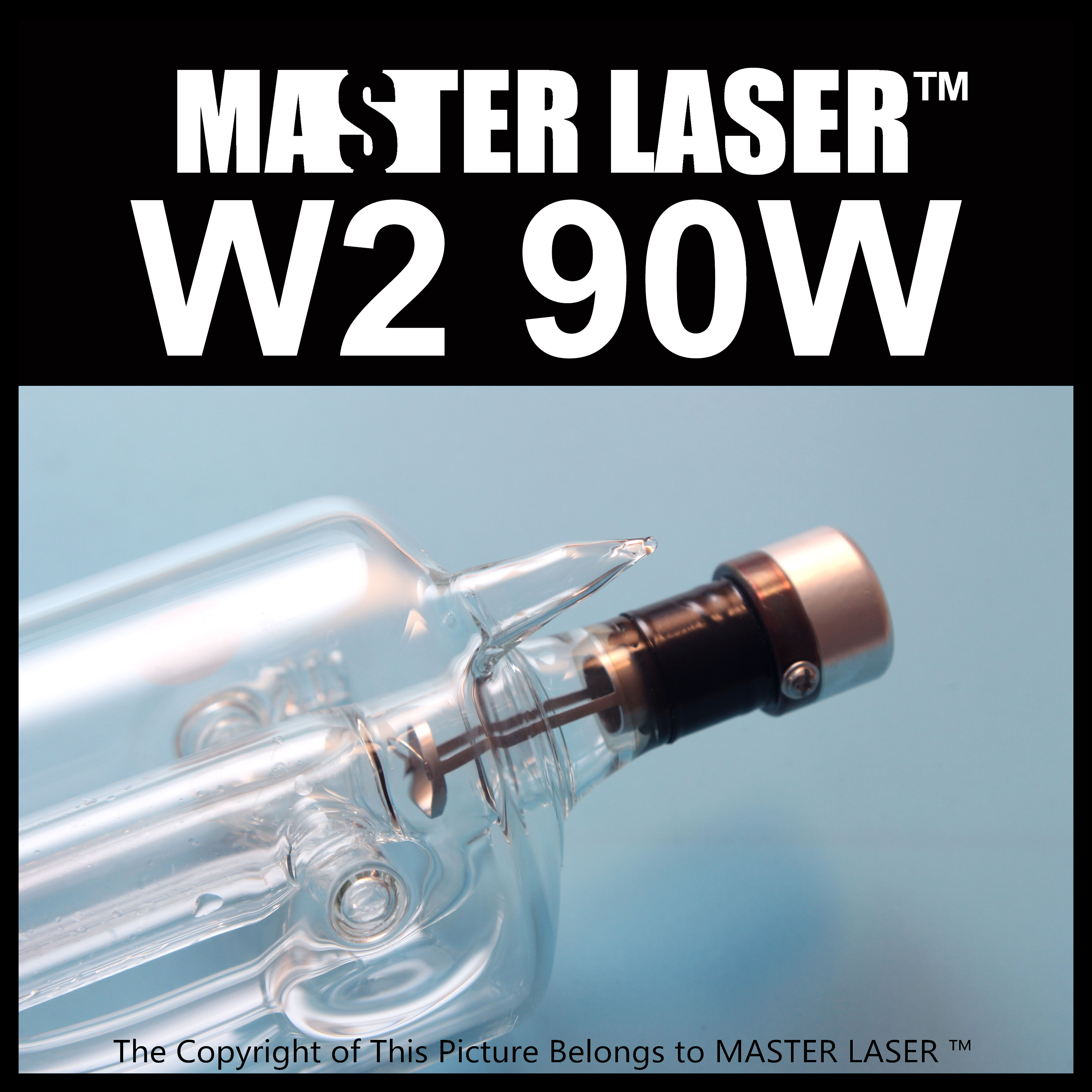 reci  CO2 Laser Tube W2 90W Glass Laser Tube 1250mm 80mm msd3463gu w2