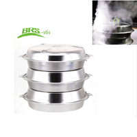 YINGTOUMAN Outdoor Steamer 3 Layer Basket Set Steam Cooker Camping Steamer Set For Cooking Vegetable Accessories Cookware Tools