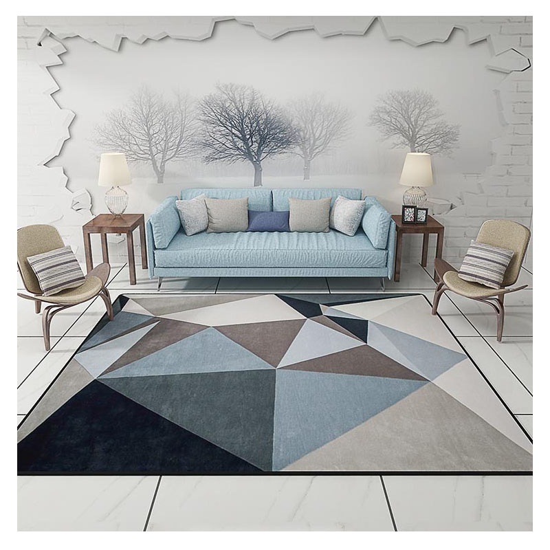 Modern Carpets For Living Room Rectangle Geometric Area