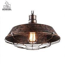 BDBQBL decoración industrial lámparas colgantes Vintage herrumbre cubierta colgante para Bar restaurante decoración del hogar lámpara colgante Retro