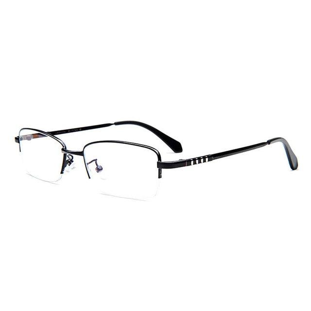 New Hot Eyeglasses Frame for Men Eyewear Optical Semi Rimless Alloy ...