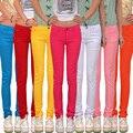 2016 spring women's candy colored pencil pants 100% cotton elastic slim fashion casual pants women clothes14 colors size 26-34