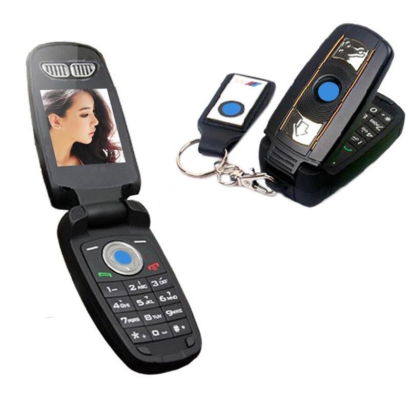 Déverrouiller Flip clé russe grec simple Sim petit Mini spécial petite cellule téléphone portable BMW voiture clé téléphone portable X6
