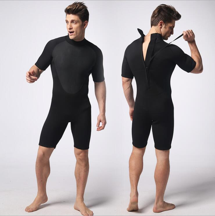 Sports Free Diving Wetsuit 3mm Neoprene Short Pants S-XXL Size Sleeves New