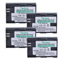 Tectra 4 PCS LP-E6 LP-E6N LPE6 LPE6N Batterie pour Canon EOS 5D 5D2 5D R Marque II 2/III 3 6D 60D/60Da 7D 7D2 7DII 70D 80D etc.