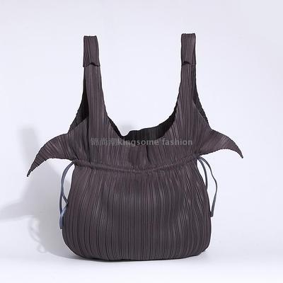 IN STOCK Miyake Fold Brand Fashion Ladies Hand Bag Wrinkle Drawstring Cloth Bag HOT SELLING