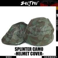 WWII Gertman M35 Helmet Cover Reversible Military Tactical Splinter Camo DE/505119
