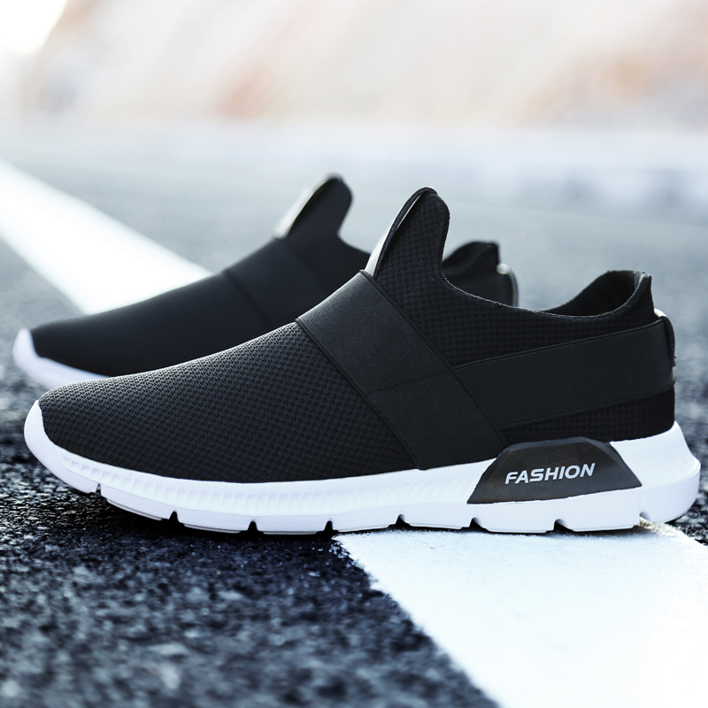 meilleur service 2a4bc bd103 US $14.57 |Breathable Running Shoes for Man Black White Sport Shoes Men  Sneakers Zapatos Corrientes De Verano New Chaussure Homme De Marque-in  Running ...