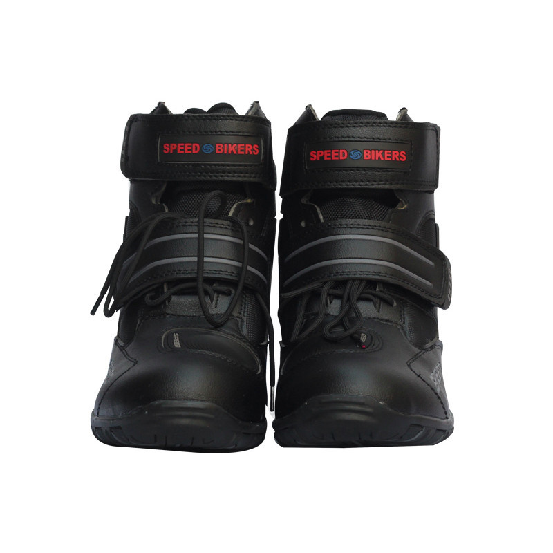 ФОТО Motorcycle Boots Probiker SPEED Moto Racing Motocross Motorbike Shoes Riding Boots Slip Shoes A005 Black/White/Red Size 40-45