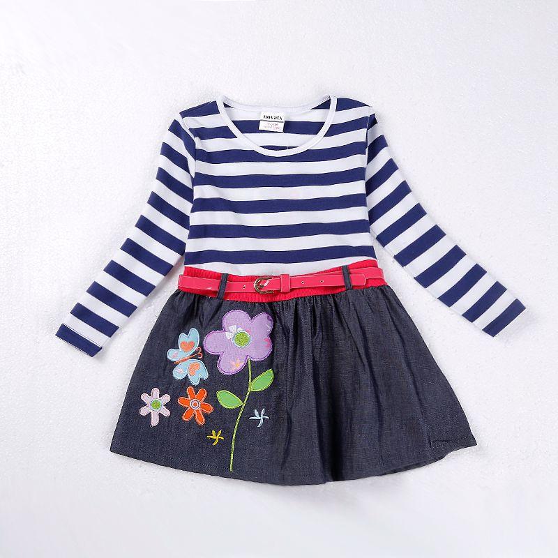 a8aec0fd6ff2 NOVATX Girl dress Autumn casual floral kids dresses for baby girls ...