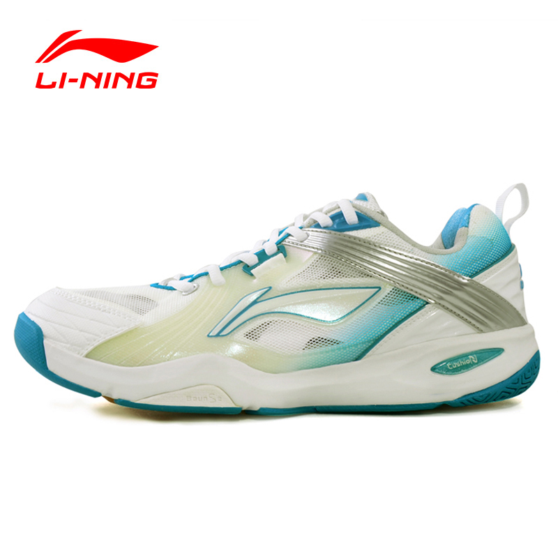 2016 Li-Ning Badminton Shoes Leather Fabric Lace Up Hard-Wearing Dry Fast Sneakers Sport Shoes Men AYAF007 XYY012 original li ning men professional basketball shoes