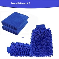 4 PACK New Cleaning Towel Gloves Set Easy Microfiber Car Kitchen Bathroom Clean Washing Cleaning