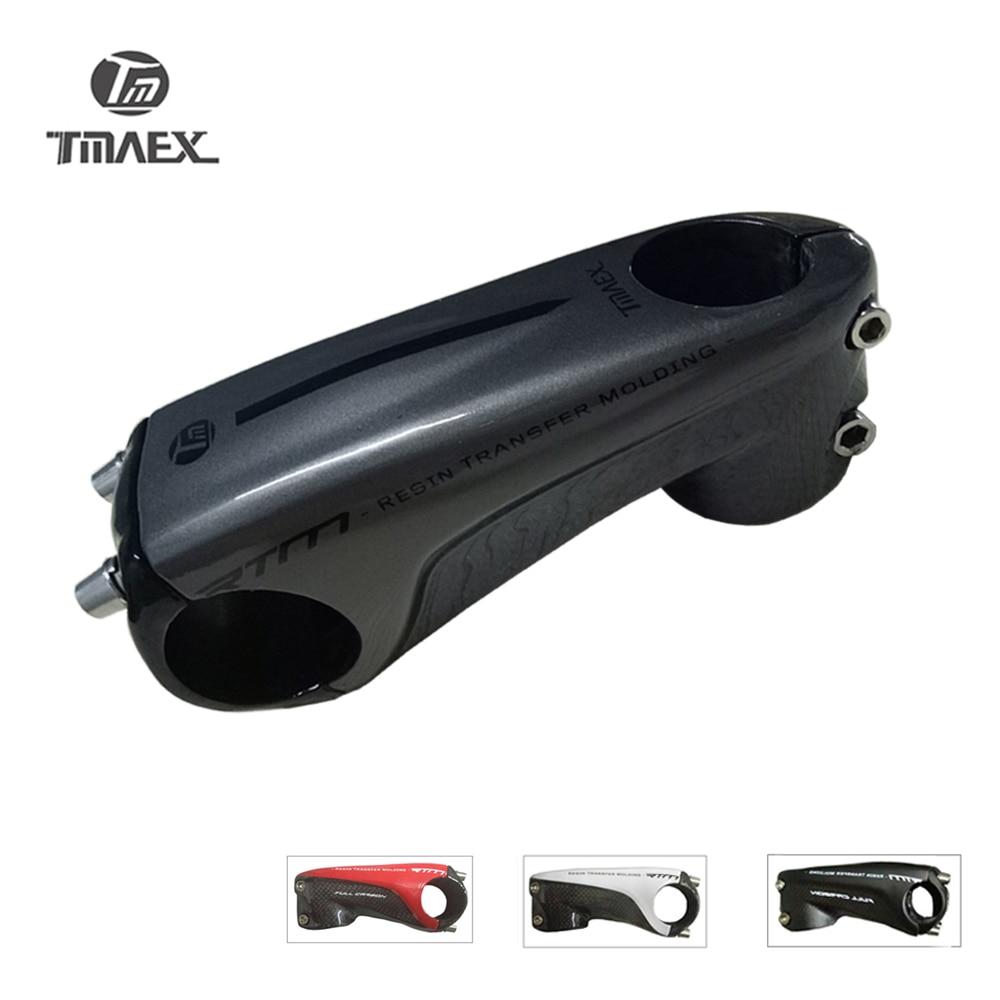 TMAEX  New Type Superlight Carbon Stem Road Mountain Bike Stem 80/90/100/110/mm Sliver Stem Bicycle Parts  3K Glossy 145g