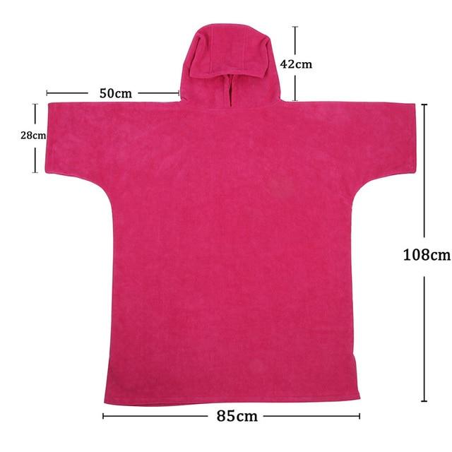 Super Assorbire Cambiare Accappatoio, Da Surf Poncho Asciugamano con Cappuccio, Un Formato Misura Tutti