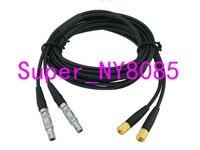 Twin Crystal Kabel 2C5-2L5 FFA.00S Naar Microdot L5 Male Connector Voor Gelijkheid Ultrasone Fout Detector 3FT ~ 10M