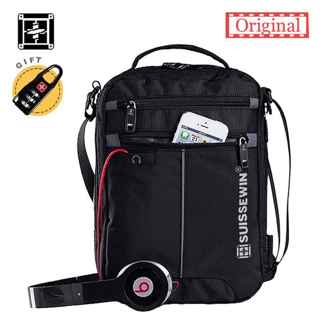 Suissewin Fashion Messenger Shoulder Bag 11 inch Business Shoulder bag handy crossbody bag Swissgear Casual Oxford satchel