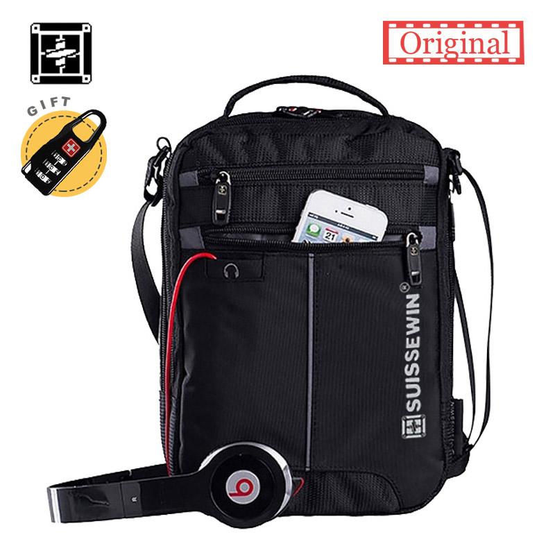 Prix pour Suissewin mode messenger sac à bandoulière 11 pouce d'épaule d'affaires sac pratique bandoulière sac swissgear casual oxford satchel