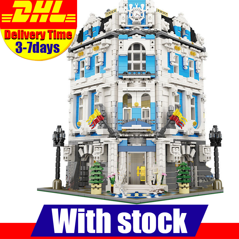 In Stock 2017 New LEPIN 15018 MOC City Street Series The Sunshine Hotel Set Building Blocks Bricks Set Toys lepin 15018 3196pcs creator city series sunshine hotel model building kits brick toy compatible christmas gifts