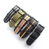 Nouveau type Haut de Gamme duty sangles en nylon 20mm 22mm Nylon bande de Montre pour bracelet NATO pour zulu bracelet montre bracelet argent noir anneau boucle