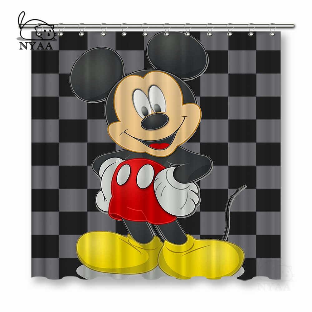 NYAA милый Микки занавески для душа полиэстер ткань занавески для домашнего декора