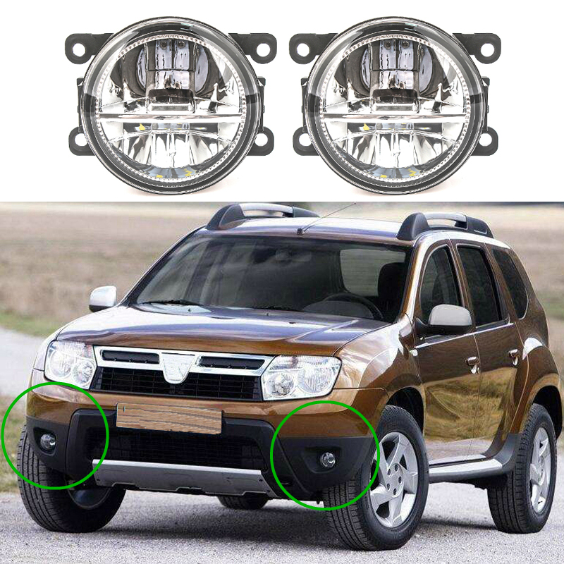2pcs <font><b>led</b></font> Fog Lights For Dacia <font><b>Duster</b></font> Logan Sandero 2004-2015 Fog Light Fog Lamp Assembly Super Bright image