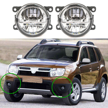 цена на 2pcs led Fog Lights For Dacia Duster Logan Sandero 2004-2015 Fog Light Fog Lamp Assembly Super Bright