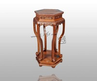 Chinese Ming Qing Classical Home Furniture Patterns Flower Stand Burner Table Burma Rosewood Arts Crafts House